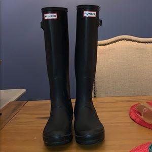 Black Original Tall Hunter Boots SZ 7